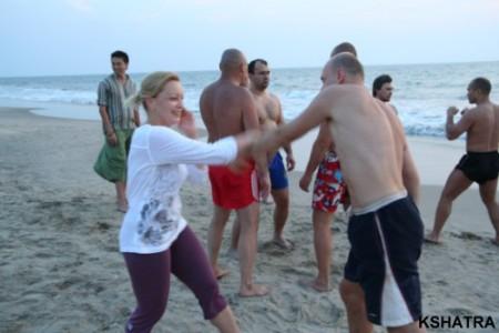 тренировки на пляже